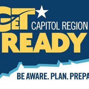 Get Ready Capitol Region Logo - Be Aware. Plan. Prepare.