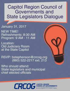 CRCOG 2017 Legislative Meeting Updated Time